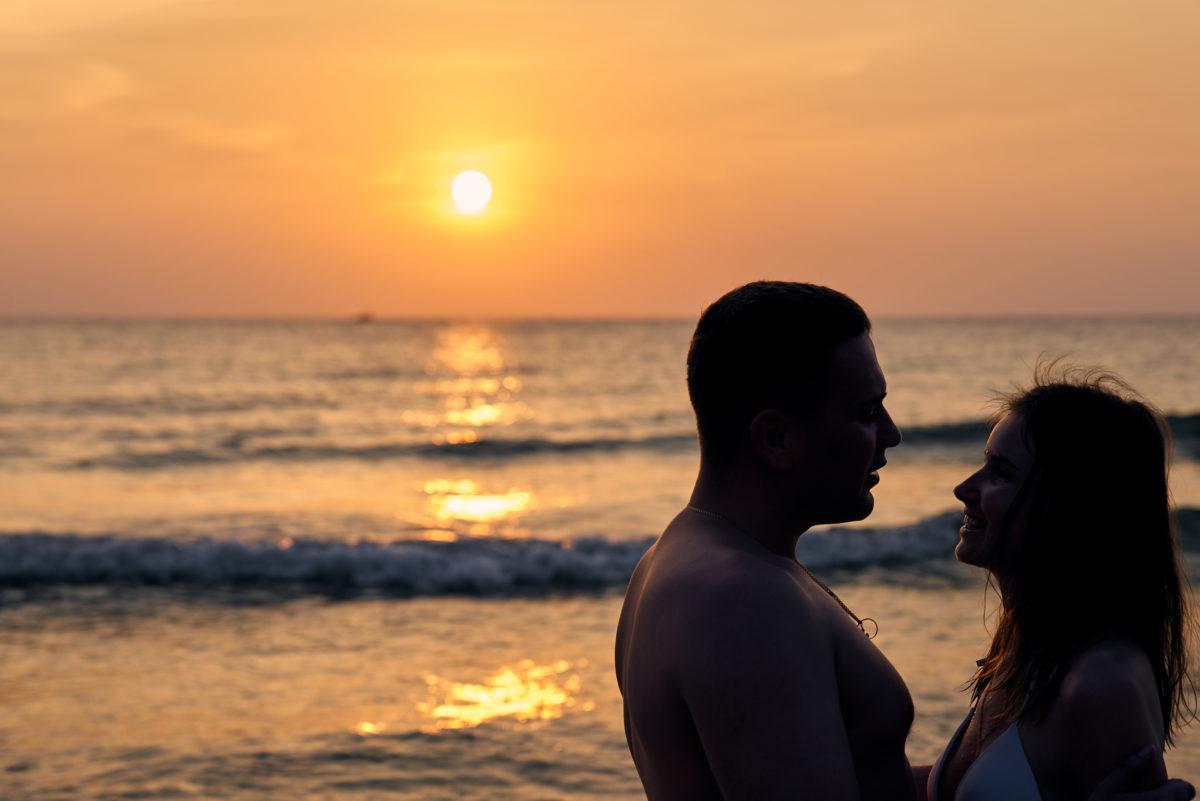 закат, романтика