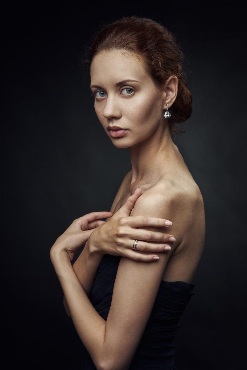 портрет, модель, девушка, красота