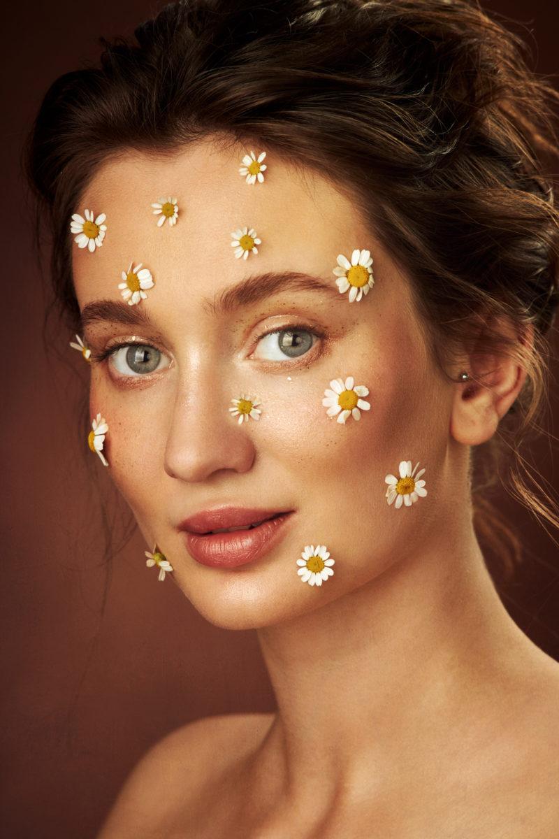 портрет, ромашки, цветы, девушка, фотограф, питер, спб,
